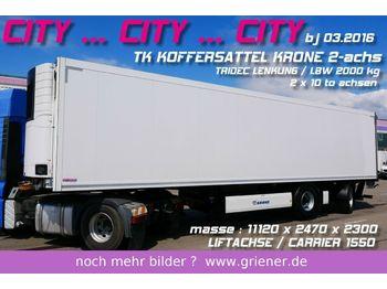 Krone SZR 20/ CITY TK KOFFER TRIDEC /LBW / LIFT / CARR  - koelwagen oplegger