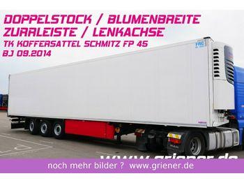 Schmitz Cargobull SKO 24 / LENKACHSE / DOPPELSTOCK / BLUMENBREITE  - koelwagen oplegger