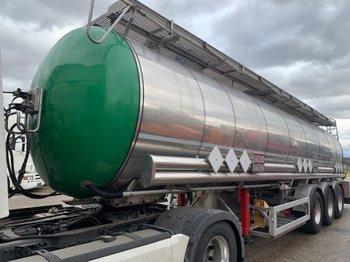 Feldbinder Chemietankaufliger, 33000 Liter ,ADR, mit Vogelsang Pumpenanlage, - tank oplegger