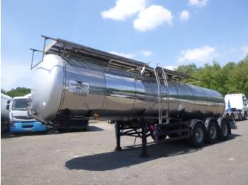 Feldbinder Food tank inox 23.5 m3 / 1 comp - tank oplegger