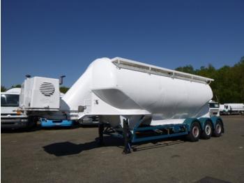 Feldbinder Powder tank alu 40 m3 + compressor - tank oplegger