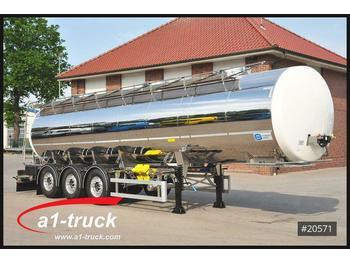 Feldbinder Schwarte Jansky Lebensmittel 30m³ Edelstahl, NEU  - tank oplegger