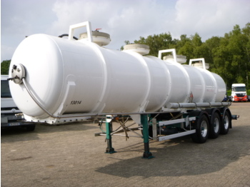 Guhur / Maisonneuve Chemical ACID tank Alu 24.2 m3 / 1 comp - tank oplegger