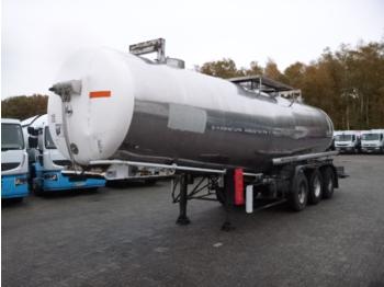 Maisonneuve Chemical tank inox 28.3 m3 / 1 comp - tank oplegger