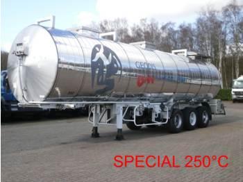 Maisonneuve Chemical tank inox 32.8 m3 / 1 comp - tank oplegger