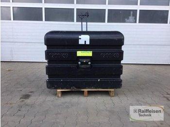 1200 kg - przeciwwaga