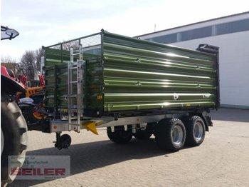 Fliegl TDK 80 FOX mit hydraulischer Rückwand 15m³ - põllutöö tõstuk-järelhaagis/ kallur