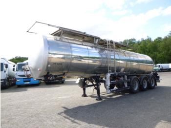 Clayton Food tank inox 23.5 m3 / 1 comp + pump - полуприцеп-цистерна