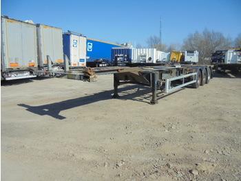 Renders Chassis - poluprikolica za prevoz kontejnera/ poluprikolica sa promenjivim sandukom