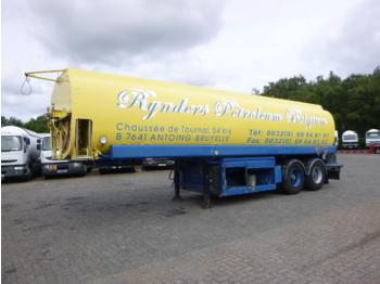 EKW Fuel tank alu 32 m3 / 5 comp + pump - полуприколка цистерна