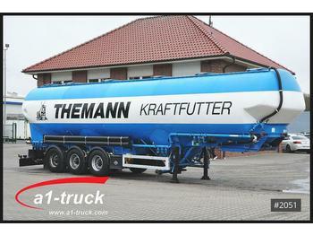 Цистерна полуремарке Feldbinder EUT 60,3 Silo Futter, 4 Kammern Lenkachse