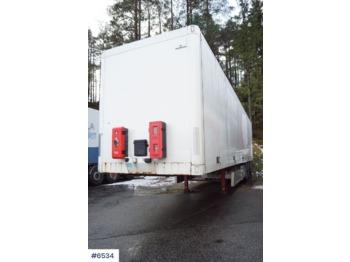 Ekeri 3 axle box semitrailer w/ full sideopening - furgoonpoolhaagis