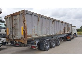 KAISER / Back kipper trailer alu chassi / Steel box 52 m3 - kallur-poolhaagis