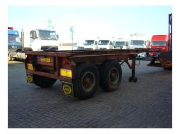 Netam-Freuhauf open 20 ft container chassis - konteinerveduk/ tõstukiga poolhaagis