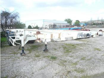 TROUILLET PORTE CONTAINER CHARIOT COULISSANT MULTIPOSITIONS - konteinerveduk/ tõstukiga poolhaagis