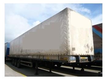 Fruehauf Oncr 36-324A trailer - külgkardinaga poolhaagis