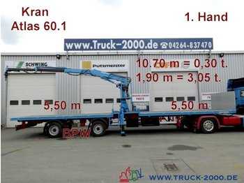 Poolhaagis veoauto Kramer Atlas 60.1 Kran SpezialTransport f.Container usw