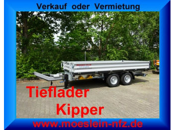 Самосвальный прицеп Möslein 13 t Tandem 3- Seitenkipper Tieflader-- Neufahr