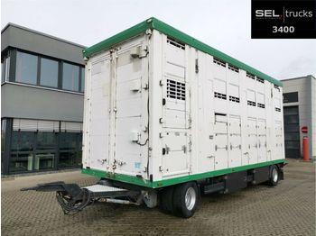 Prikolica za prevoz stoke Pezzaioli Menke-Janzen / 3 Stock / Hubdach