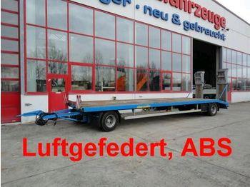 Obermaier 2 Achs Tiefladeranhänger mit gerader Lad - podvalníkový přívěs