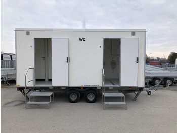 Přívěsný vozík 3 Damen, 1 Herren + 3 Urinale Toilettenanhänger