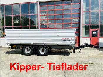 Przyczepa wywrotka Möslein 14 t Tandemkipper- Tieflader-- Wenig Benutzt --