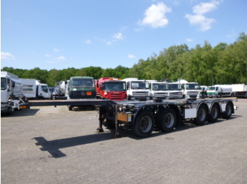D-TEC 5-axle container combi trailer 20-40 ft (2 + 3 axles) - konttialus/ vaihtokuormatilat puoliperävaunu