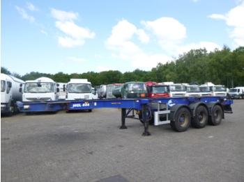 Dennison 3-axle container trailer 20-30-40-45 ft - konttialus/ vaihtokuormatilat puoliperävaunu