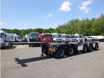 D-TEC 5-axle container combi trailer 20-40 ft (2 + 3 axles) - puspiekabe noņemamā virsbūve/ konteineru vedējs