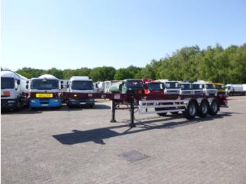 Dennison 3-axle container trailer 40 ft - puspiekabe noņemamā virsbūve/ konteineru vedējs