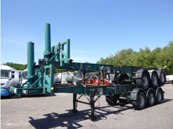 Tinsley Stack - 2 x 3-axle container trailer (tipping) - puspiekabe noņemamā virsbūve/ konteineru vedējs
