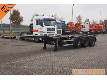 D-Tec Polyvalent chassis 20-30-40-45 ft - konteineris-vežimus/ sukeisti kūną puspriekabė