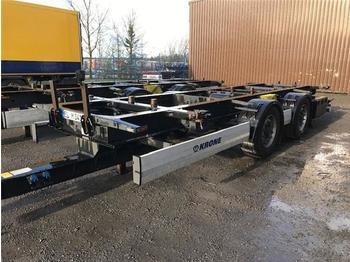 Krone - BDF System, Standard Ausführung, Umbau auf Hochkupplung - reboque transportador de contêineres/ caixa móvel
