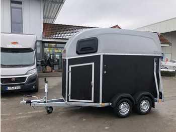 Reboque transporte de gado BOECKMANN Duo Esprit silver+black SK ALB Pferdeanhänger