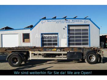 Контейнеровоз/ сменна каросерия ремарке Hüffermann HSA 18.70 Schlitten Abroller Doppelbereifung