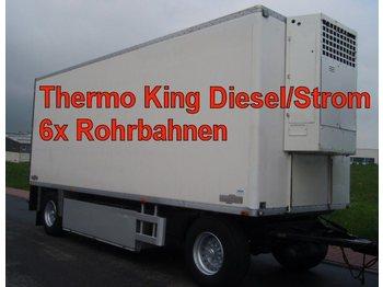 CHEREAU 2-Achs Anhänger Tiefkühler mit Rohrbahnen - rimorkio me vagonetë të mbyllur