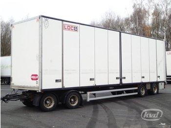Parator SCV 18-20 4-axlar Box Trailer (side doors) - rimorkio me vagonetë të mbyllur