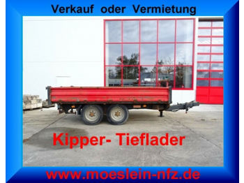 Tandemkipper- Tieflader  - damperli römork