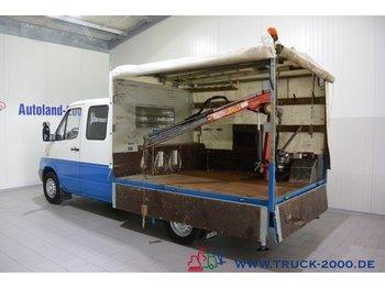 Mercedes-Benz Sprinter 313 6-Sitze Kran 750 KG 1.Hd 2 x AHK - samochód dostawczy plandeka