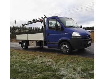 Samochód dostawczy skrzyniowy Nissan Interstar 2.5 DCi Hiab 008-2 Alumiinilava p-auto: zdjęcie 1