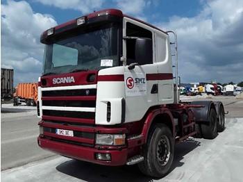 Sattelzugmaschine Scania 144 530 6x4 manual lames/Steel