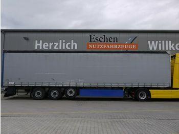 نصف مقطورة بستائر جانبية Schmitz Cargobull Schiebeplane, Luft/Lift, Edscha, Palettenkasten