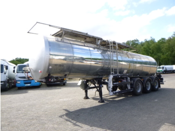 Clayton Food tank inox 23.5 m3 / 1 comp + pump - semi-remorque citerne