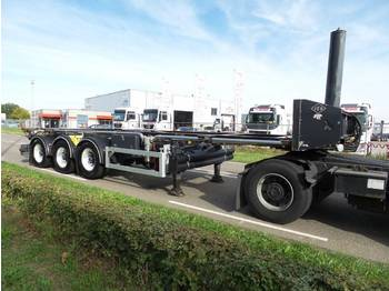 Feldbinder FFB 30 ft tipping whit rotory valve - chassis semi-trailer