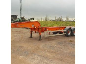 SDC 20FT Tri Axle Skelly Trailer c/w Lift Axle - chassis semi-trailer