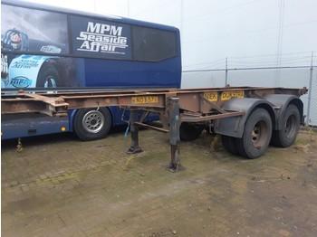 Chassis semi-trailer Van Hool 2 Axles ROR steel suspension 20ft