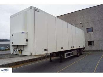 Ekeri L-2 Citytralle w / full side opening and rear lift - closed box semi-trailer