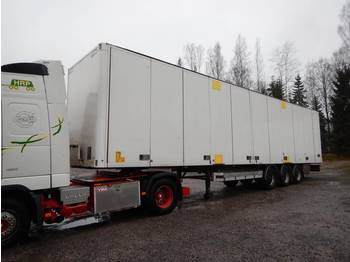 Ekeri Side opening / Curtain roof / intermodal - closed box semi-trailer
