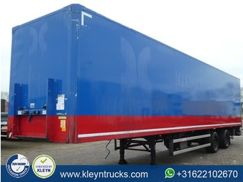Closed box semi-trailer Groenewegen DRO 12-20 steeraxle taillift