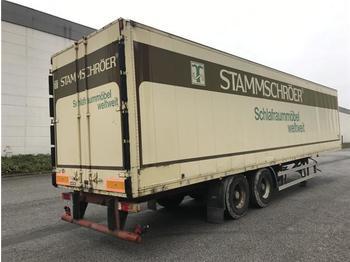 Closed box semi-trailer  / -  Kofferauflieger 2 Achs Koffer